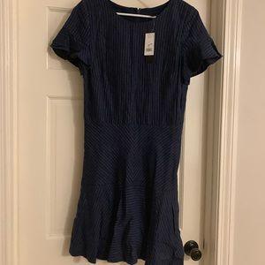 Denim pinstripe dress